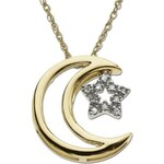 KLENOTA Dvoubarevný náhrdelník s diamantovou hvězdičkou