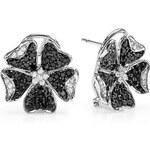KLENOTA Diamantové náušnice ve tvaru květiny