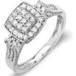 KLENOTA Zásnubní prsten z bílého zlata s diamanty