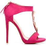 Belle Women Semišové sandály s ozdobami