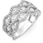 KLENOTA Diamantový koktejlový prsten z bílého zlata