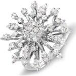 KLENOTA Diamantový prsten z bílého zlata
