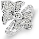 KLENOTA Exkluzivní diamantový prsten ve tvaru květiny