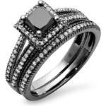 KLENOTA Sada prstenů s diamanty