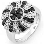 KLENOTA Unikátní koktejlový prsten s mnoha diamanty