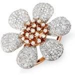 KLENOTA Koktejlový prsten ve tvaru květiny