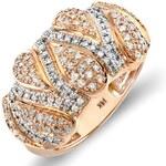 KLENOTA Koktejlový prsten z růžového zlata