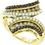 KLENOTA Koktejlový prsten s mnoha diamanty