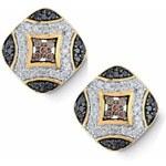 KLENOTA Zlaté náušnice s barevnými diamanty