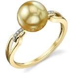 KLENOTA Zlatý prsten se zlatou perlou