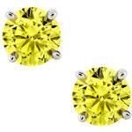 KLENOTA Diamantové náušnice se žlutými diamanty, 14k zlato