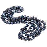 KLENOTA Dlouhý náhrdelník z černých perel