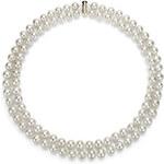 KLENOTA Dvouřadý perlový náhrdelník