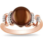 KLENOTA Prsten s perlou ze zlaceného stříbra