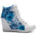 VICES Květované modré tenisky