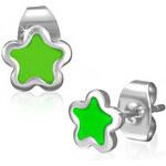 DAMSON Ocelové náušnice - hvězdičky