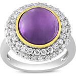 KLENOTA Prsten s fialovým ametystem