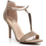 BELLUCCI Semišové sandálky na podpatku