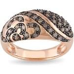 KLENOTA Prsten z růžového stříbra