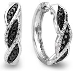 KLENOTA Stříbrné diamantové náušnice