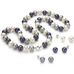 KLENOTA Perlová souprava šperků ze stříbra