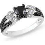 KLENOTA Prsten s černými diamanty
