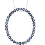 Klenota Stříbrný náhrdelník s modrými safíry