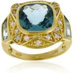 Klenota Pozlacený prsten s topazy