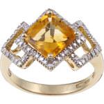 KLENOTA Zlatý prsten s citrínem