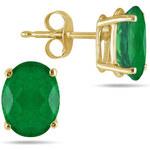 KLENOTA Smaragdové náušnice ze žlutého zlata