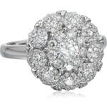 KLENOTA Výrazný diamantový prsten z bílého zlata