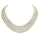 KLENOTA Trojřadý perlový náhrdelník