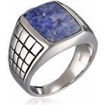 KLENOTA Pánský stříbrný prsten se soladitem