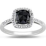 KLENOTA Diamantový prsten v bílém zlatě