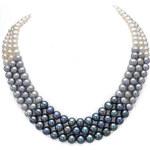 KLENOTA Trojbarevný perlový náhrdelník