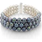 KLENOTA Trojbarevný perlový náramek
