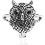 KLENOTA Stříbrný prsten Sova