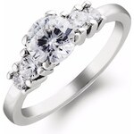 KLENOTA Exkluzivní briliantový zásnubní prsten