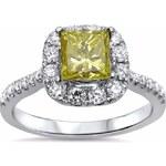 KLENOTA Zlatý zásnubní prsten žlutý diamant