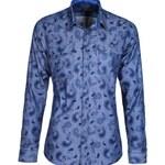 Košile StyleOver modrá s květinovým vzorem