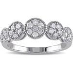 KLENOTA Diamantový květinový prsten
