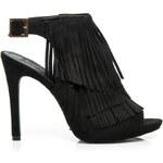 SERGIO TODZI Semišové bohémské sandály černé