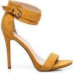 SEASTAR Stylové žluté sandály na jehlovém podpatku
