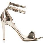 VICES Zlaté metalické sandály na jehle