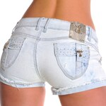 Dámské módní světle modré džínové kraťásky