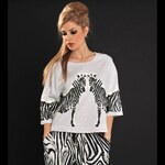 Módní šedé tričko Safari