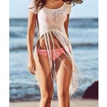 Damson Plážové tričko s třásněmi