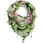 Art of Polo Zeleno-růžový letní šál/šátek styl Hippie