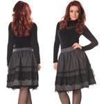 Trendy vlněná sukně