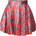 Damson letní karovaná kolová sukně